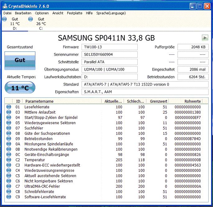 Samsung Spinpoint PL40 40GB, IDE (SP0411N)