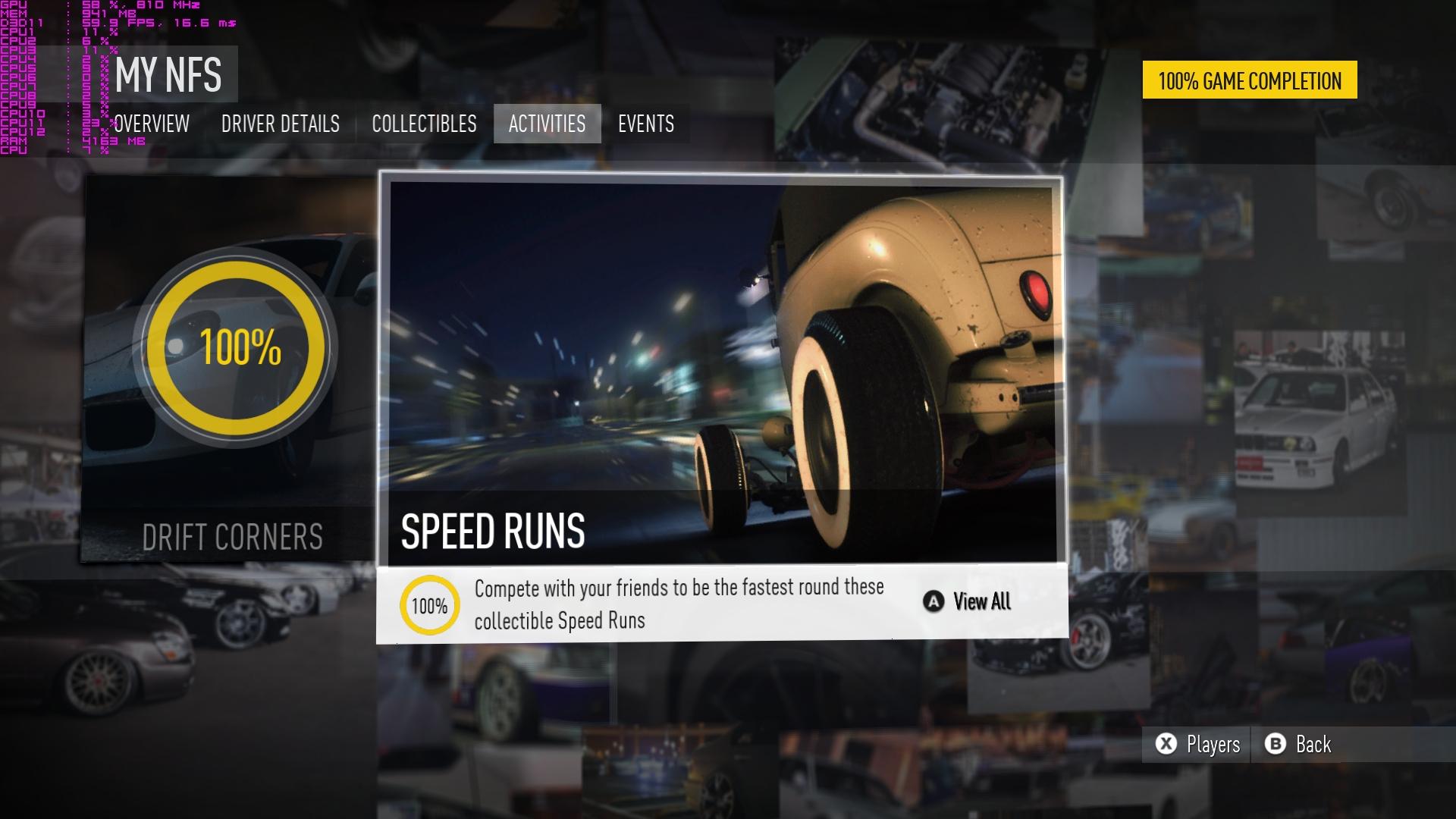 Speed Runs 100%
